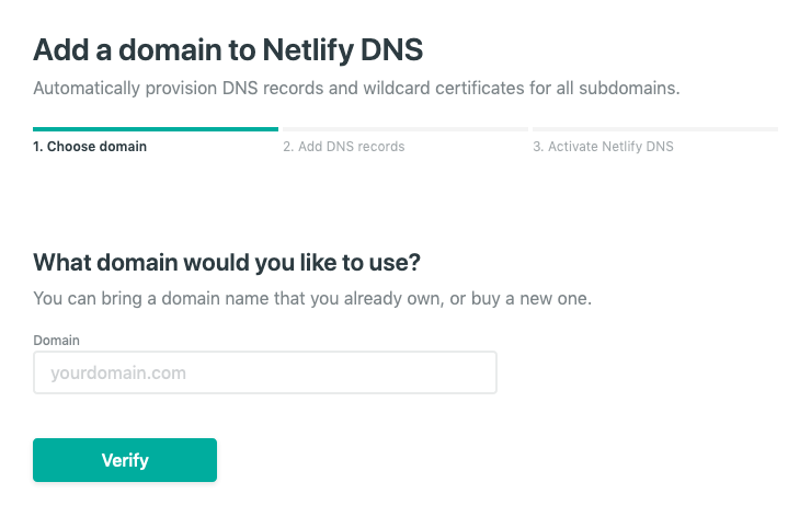 Add domain to Netlify